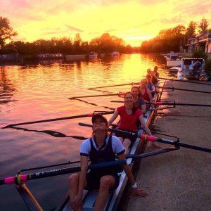 MCR members rowing