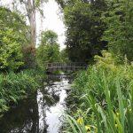 a photo of the bridge to the provost's garden